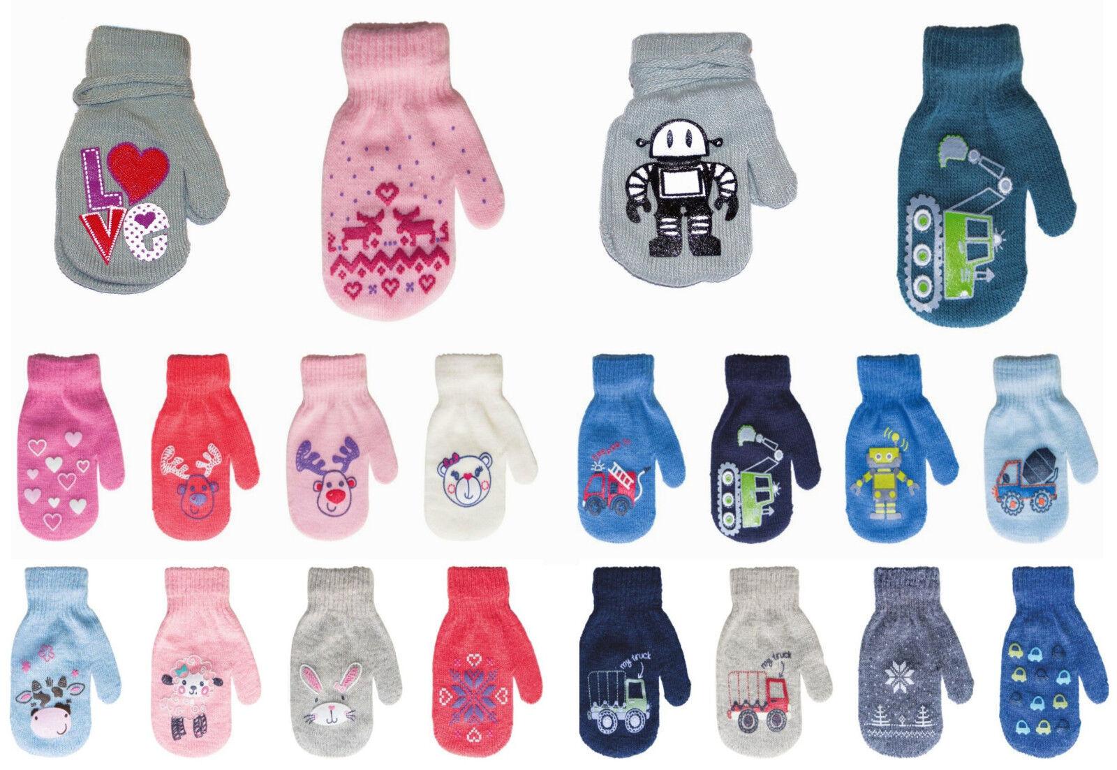 FÄUSTLINGE Handschuhe Baby Kinder Jungen Mädchen Babyhandschuhe 10,12,14cm NEU x