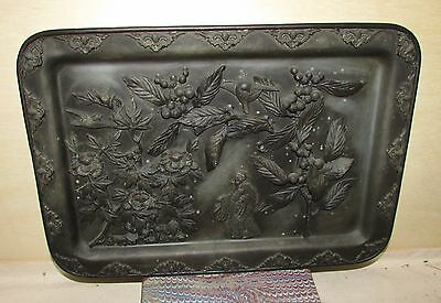 Antique Chinese or Japanese Bronze or Copper Tray Very Unusual
