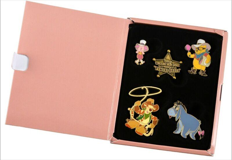 Disney Store Japan Pooh Pin Badge Set Western Pooh & Friends 2021