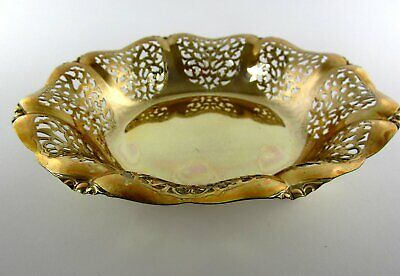 Old Bowl Made of Metal Silver Plated Breakthrough Fruit Confectionery Quist