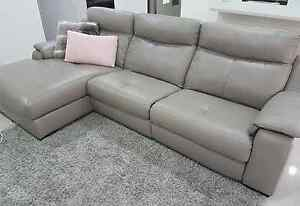 Leather Recliner Lounge with Chaise Kingswood Penrith Area Preview