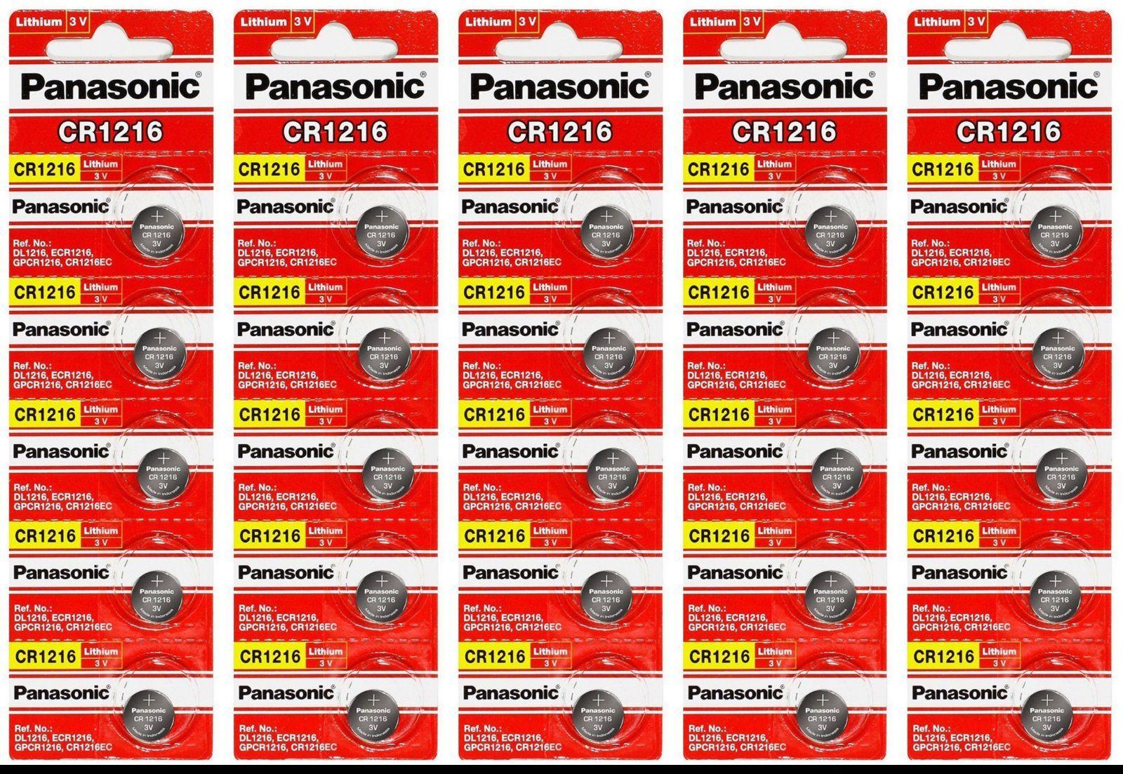 25 Pack Panasonic Cr1216 3v Watch / Electronic / Keyless ...