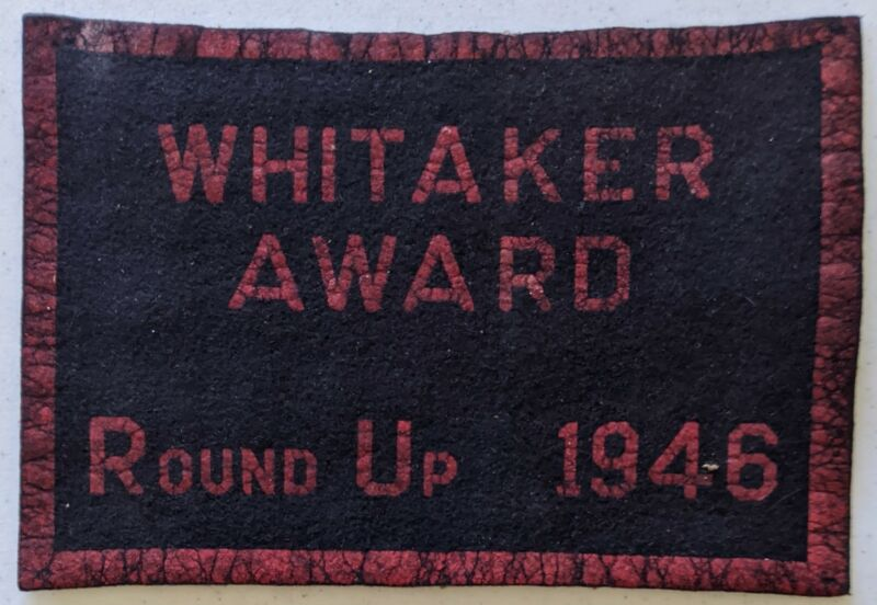 1946 Whitaker Round Up Felt Award Vintage Boy Scouts of America BSA