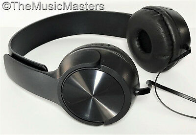 NEW! DJ Style Stereo Headphones HQ Sound Home Audio Studio Phone Tablet PC Black