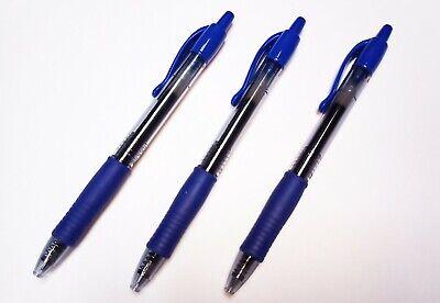 Pilot G2 07 Retractable Premium Gel Roller Ball Fine Point Pen Blue Ink 3 Ea