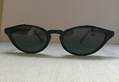 VINTAGE REVO 989 SUNGLASSES BLACK FRAME, FELINE ELONGATED CAT EYE