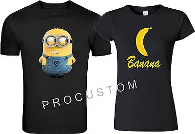 Minion OR His BANA FUNNY CUTE  VALENTINES  LOVE  T-Shirts