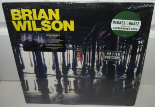 BRIAN WILSON SIGNED NO PIER PRESSURE ALBUM BEACH BOYS ROCK AUTOGRAPH SEALED