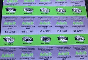 DRT bus tickets