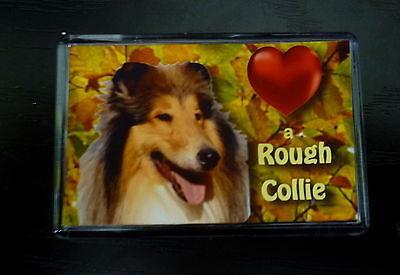 Rough Collie Gift Dog Fridge Magnet 77x51mm Birthday Gift Xmas Stocking Filler