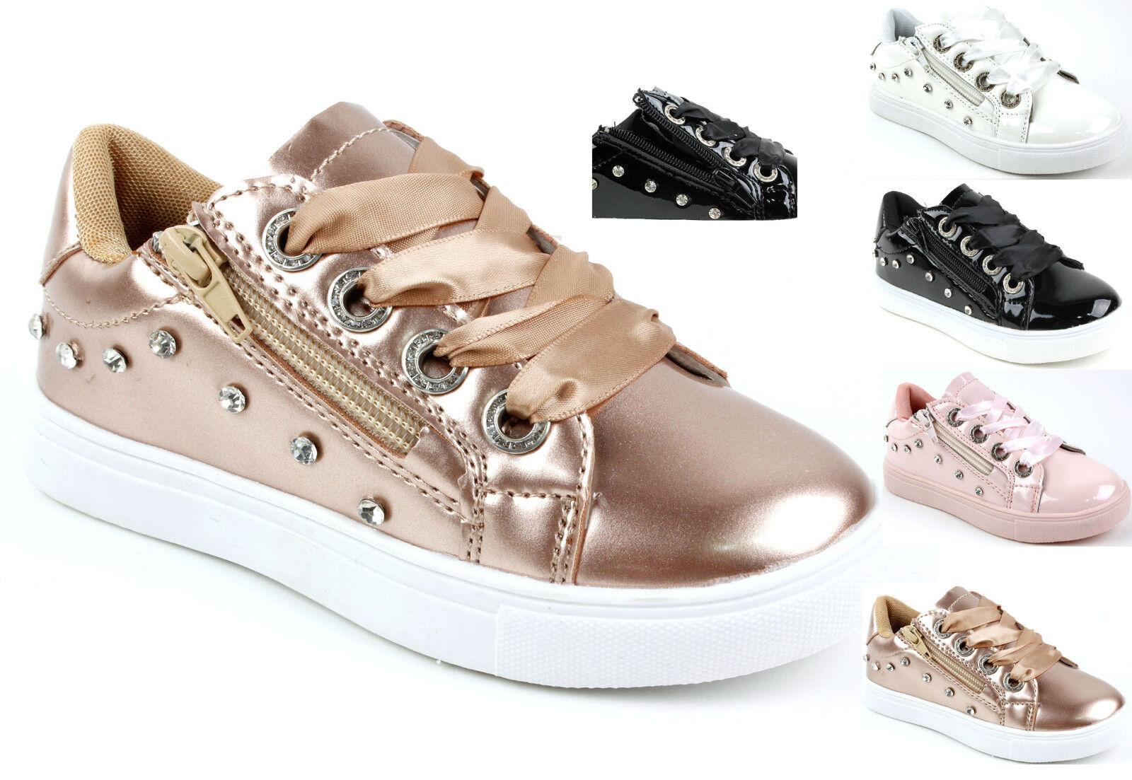 557f27ddf94820 Kinder Sportschuhe Sneakers Turnschuhe für Mädchen Strassteine  Reißverschluss