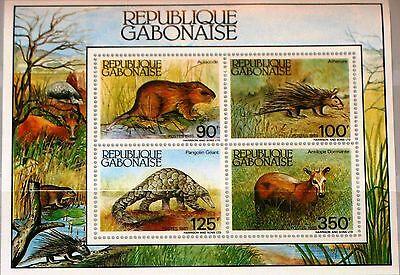 GABON GABUN 1985 Block 52 S/S 584a Wildlife Tiere Animals Fauna Säugetiere MNH