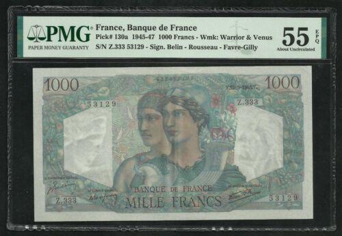 France : 1000 Francs Minerve (12-9-1946) ; PMG About UNC 55 ; EPQ