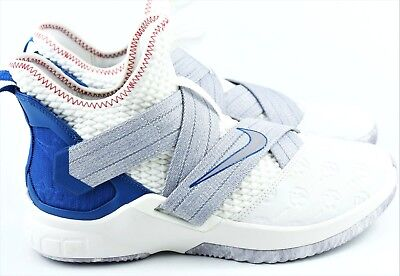 new arrivals b0153 6cac5 Nike Lebron Soldier XII 12 Mens Size 11 Basketball Shoes White Blue AO2609  101