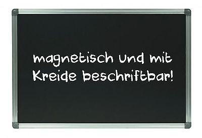 Kreidetafel Schultafel B-Ware MAGNETISCH 80 x 120 cm ALUrahmen Magnettafel