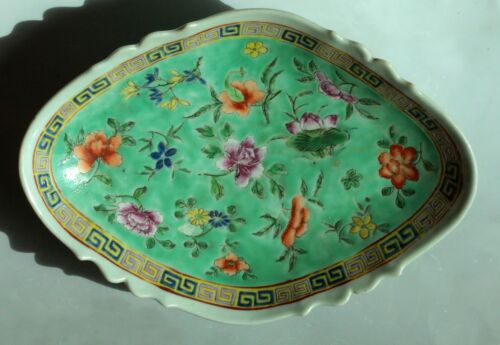 Fine Large Antique Chinese Porcelain Footed Dish/Plate