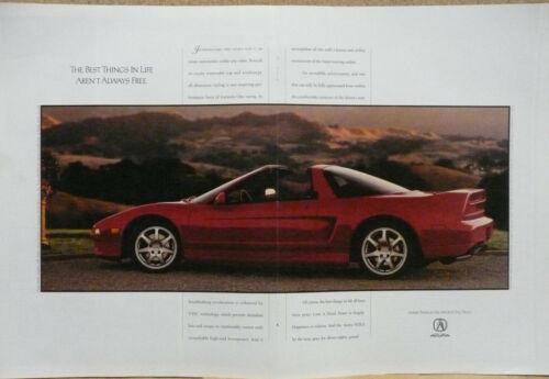 1995 Acura NSX Print Ad