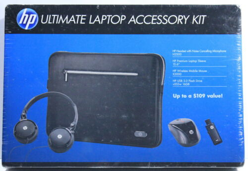 "HP Ultimate Laptop Accessory Kit - H2500 Headset 15.6"" Sleeve X3000 Mouse (NEW)"