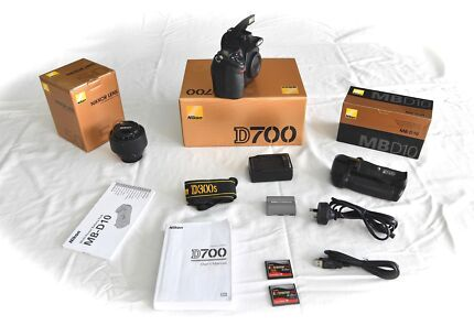 Nikon D700 with accessories in excellent condition.