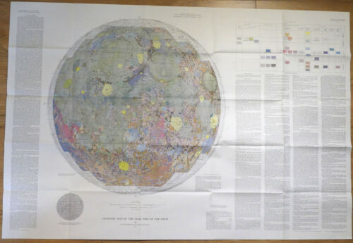ORIGINAL Geological Map of MOON 1971, APOLLO Landing Sites, NASA, USGS