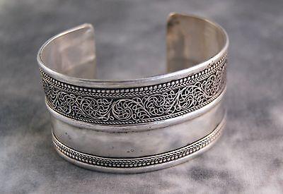 Breiter Armreif ~ filigran Silber ~ Nepal (659)