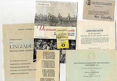 Nachlass Lingiade 1939 Stockholm Schweden Gymnastik Turnen Turnfest