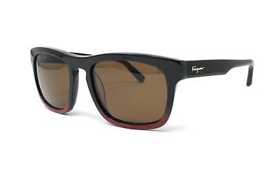 Salvatore Ferragamo Sunglasses SF789S 012 BLACK BURGUNDY 55x19x145
