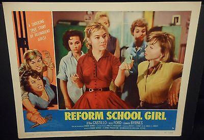 Reform School Girl 1957 US orig Lobby Card # 3 VF Exploitation Tough Chick