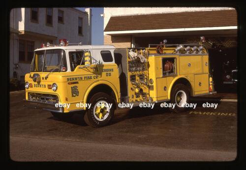 Berwyn PA 1972 Ford C Hahn pumper Fire Apparatus Slide