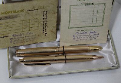 Montblanc Masterpriece 744N Füller + Montblanc Meisterstück PIX 772 Bleistift