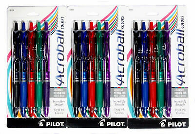 Pilot Acroball Colors Pens Assorted Hybrid Ink Medium Tip 1.0mm 31820 15 Count