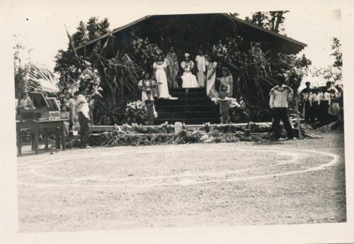 1940 Hawaiian Pageantry, Kids, May Day,  Lei Day?  Hawaii  Photo #2 Royal Court