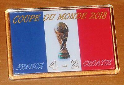 France World Cup Winners 2018 Coupe Du Monde Football Flag Fridge Magnet