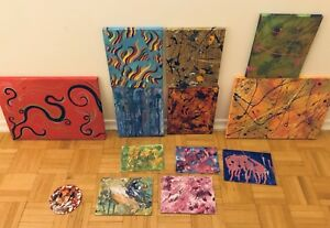 Original Abstract Art - PAY WHAT YOU CAN - Paintings
