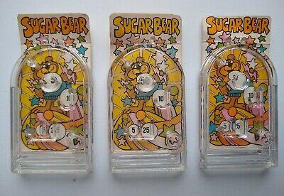 Vintage Kellogg's Sugar Pops Miniature Pinball Sugar Bear Cereal Premium lot
