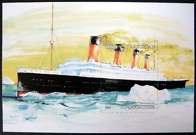2000 MNH TAJIKISTAN TITANIC STAMP SOUVENIR SHEET PASSENGER SHIP BOAT OCEAN LINER for sale  Shipping to India