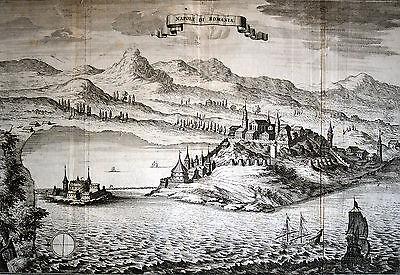 NAFPLIO - NAUPLION / Griechenland Ansicht Merian Kupferstich 1691 Original!