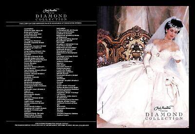 1988 Frank Masandrea Wedding Dress Vintage PRINT IMAGES Diamond Collection Bride