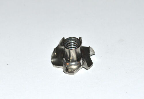 #10-24x9/32  Stainless Steel T-Nut Tee Nut 6 Prong (Pkg of 25)