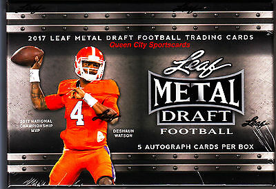 2017 Leaf Metal Draft Football Factory Sealed Hobby Box