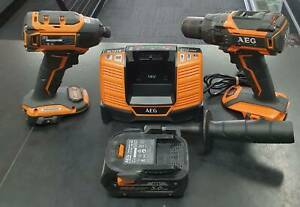 AEG 18V 5.0ah Brushless Fusion 2 Piece Combo Kit Charger Toukley Wyong Area Preview