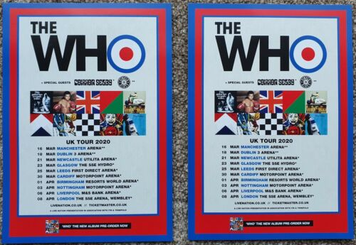2 Flyers - The Who - UK Tour 2020
