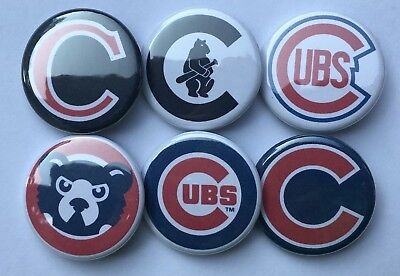 Chicago Cubs Mlb Set - Chicago Cubs Team Logo Set of 6 1.25