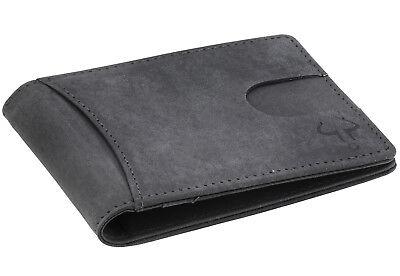 Goudsmid® RFID-Schutz Geldbörse mit Geldklammer Geldbeutel Ledergeldbörse Leder