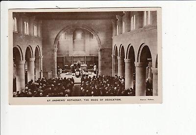 St Andrews Rothesay The Mass of Dedication Vintage Postcard