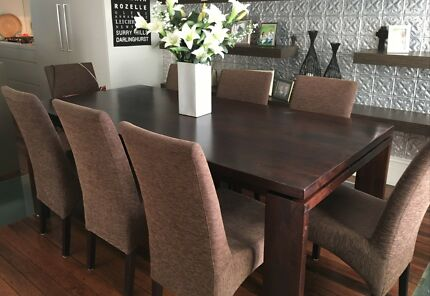 Brescia Furniture Grand Timber Table And 8 Chairs