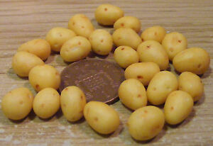 1-12-Scale-6-Washed-Potatoes-Dolls-House-Miniature-Food-Vegetable-Accessory