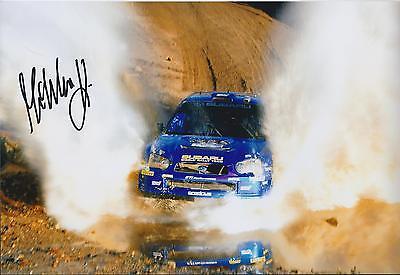 WRC Mikko HIRVONEN SIGNED Subaru Rally DRIVER Autograph 12x8 Photo AFTAL COA