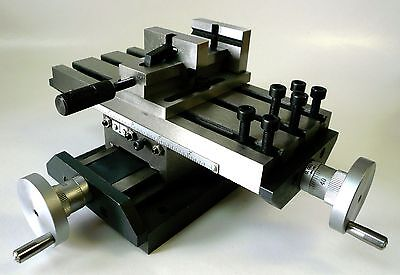 Low Profile Compound Xy Position Cross Slide Table 2 Quick Release Vise New