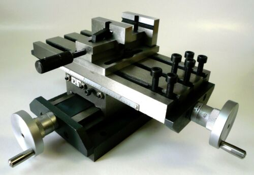 """Low Profile Compound X/Y Position Cross Slide Table + 2"""" Quick Release Vise New"""